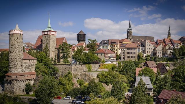 bautzen - panorama der stadt